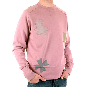 Fake London Genius rose pink long sleeve sweatshirt. HMW764 701P FAKE6817