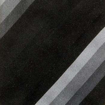 Hugo Boss Tie grey striped silk tie 50165210. BOSS0148
