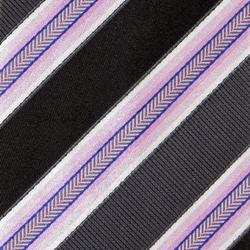 Hugo Boss Tie grey and pink diagonal striped silk tie 50189308