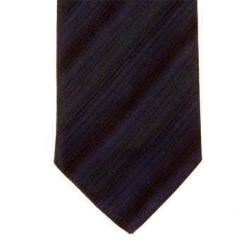 Hugo Boss Tie navy striped silk tie 50185569