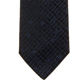 Hugo Boss Tie navy jaquard silk tie 50163471