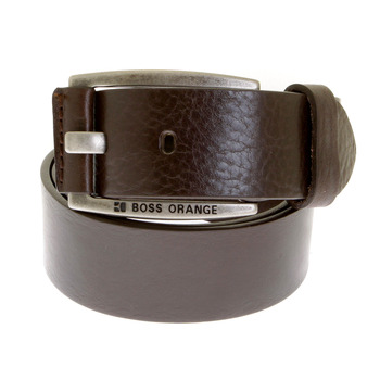 Boss Orange label belt chocolate brown BAKABA 50188119 Hugo Boss leather belt - BOSS0441