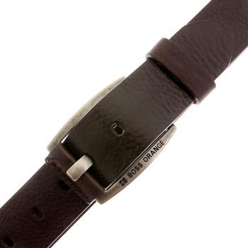 Boss Orange label belt chocolate brown BAKABA 50188119 Hugo Boss leather belt - BOSS0441