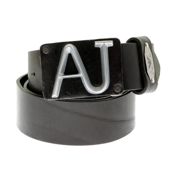 Armani Jeans black leather belt N612 0YF - AJM0007