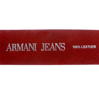 Belt Armani Jeans black leather casual belt N610 111 -  AJM5328