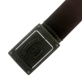 Armani Jeans chocolate brown leather belt N610 312 -  AJM5330