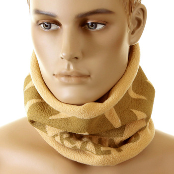 RMC Jeans Latte Fleece Reversible Neck Warmer Snood with Tsunami Wave Embroidery REDM5506