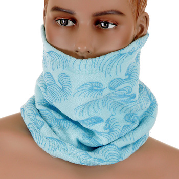 RMC Martin Ksohoh Mens Fleece Reversible Neck Warmer Snood in Sky Blue REDM5493