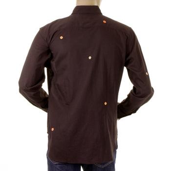 Paul Smith shirt mens dark brown long sleeve shirt 721E 406 PS2894