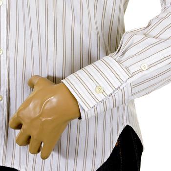Paul Smith shirt khaki and white striped shirt 652 F 115 PS6452
