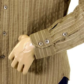 D&G Shirt Dolce & Gabbana khaki striped shirt 16063845010YR  DGM1462