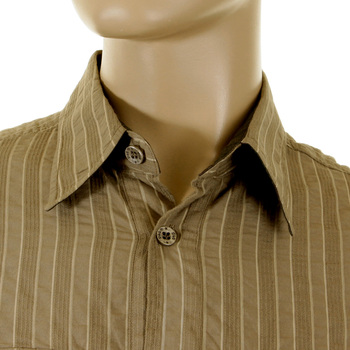 D&G Shirt Dolce & Gabbana khaki striped shirt 16063845010YR  DGM1462