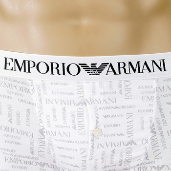 Under Wear Emporio Armani 110748 white logo trunk EAM4187