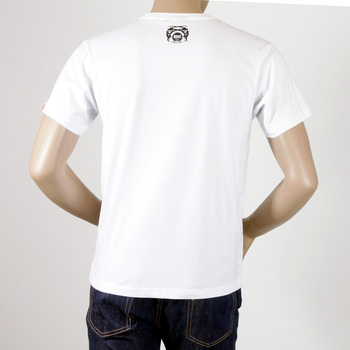 RMC Jeans 8th Anniversary Scooter Regular Fit Crew Neck Short Sleeve T-shirt in White REDM2707