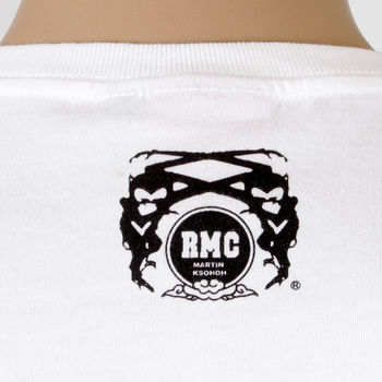 RMC Jeans Short Sleeve Crew Neck Regular Fit White T-shirt with 8th Anniversary Duck Print REDM2711