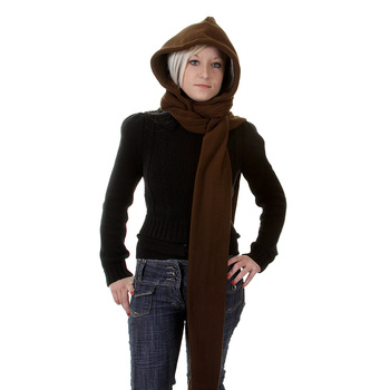 RMC Hooded Scarf Martin Ksohoh chocolate brown hooded snood scarf REDM1381