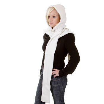 RMC Hooded Scarf Martin Ksohoh white hooded snood scarf REDM1386