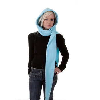 RMC Hooded Scarf Martin Ksohoh turquoise hooded snood scarf REDM1388