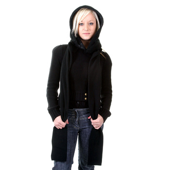 RMC Hooded scarf Martin Ksohoh black hooded snood scarf REDM1389