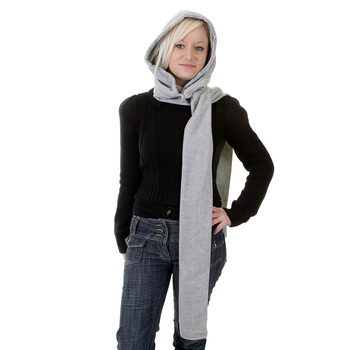 RMC Hooded Scarf Martin Ksohoh  light grey hooded snood scarf REDM1391