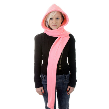 RMC Hooded Scarf Martin Ksohoh light pink hooded snood scarf REDM1393