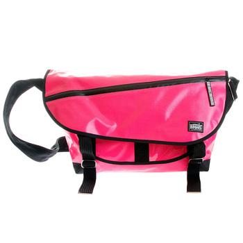RMC MKWS Unisex Bubblegum Pink Laminated 100% Cotton Canvas Shoulder Cyclist Fashion Bag REDM5547