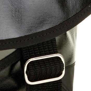 RMC Unisex Large Black Laminated Cotton Canvas Shoulder Cyclist Fashion Bag REDM5559