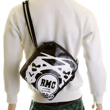 RMC Jeans Mens Unisex PVC Coated Canvas Despatch Bag in Black with Waterproof Zip REDM5568