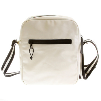 RMC Jeans Unisex Ivory PVC Coated Canvas Despatch Bag with Waterproof Zip Closure for Men REDM5567