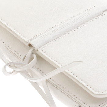 RMC Jeans Shoe Lace Tie White Leather 3 Fold Credit Card Wallet for Men REDM5719