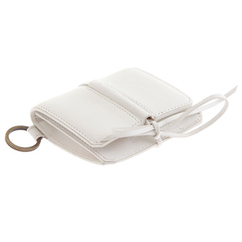 RMC Jeans Grain Italian Leather Pouch Mens Wallet in White REDM5730