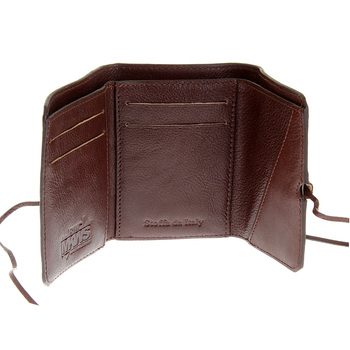 RMC Martin Ksohoh Wallet MKWS 3 fold brown Italian leather mini wallet 152621 FFK1R 9791 REDM5733