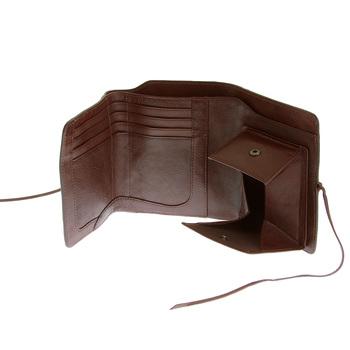 RMC Martin Ksohoh Wallet MKWS 3 fold brown Italian leather portrait wallet REDM5746