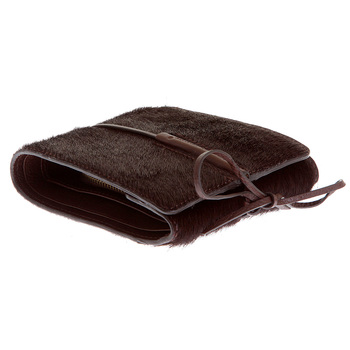 RMC Martin Ksohoh MKWS horse brown hair bill fold, credit card and coin pouch wallet REDM5756