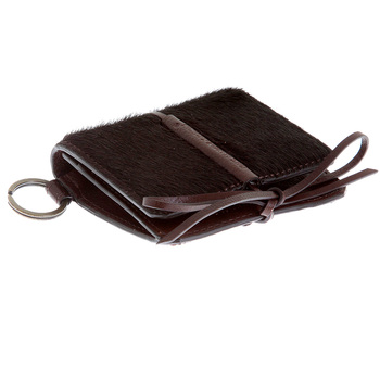 RMC Jeans Mens Horse Hair Brown Leather Pouch Wallet with Shoe Lace Tie Closure REDM5772