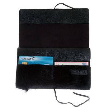 RMC Martin Ksohoh Wallet MKWS black horse hair travel wallet256367 BGH0N 1000 REDM5782
