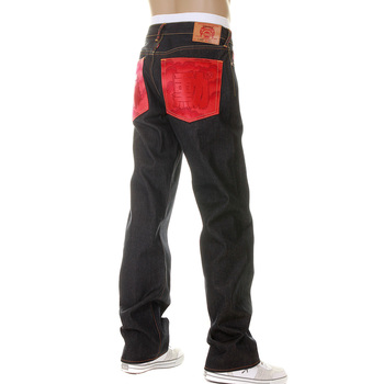 RMC Martin Ksohoh Dark Indigo Vintage Cut Super Exclusive Raw Denim Jeans with ERIC SO01 Red Embroidery REDM3112