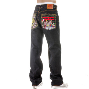 RMC Martin Ksohoh Vintage Cut House Selvedge Dark Indigo Raw Denim Jeans with Harvest Buddha Embroidery REDM2893