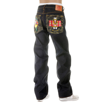 RMC Martin Ksohoh Super Exclusive Selvedge Dark Indigo Raw Denim Jeans with Japanese Dolls Embroidery REDM2892