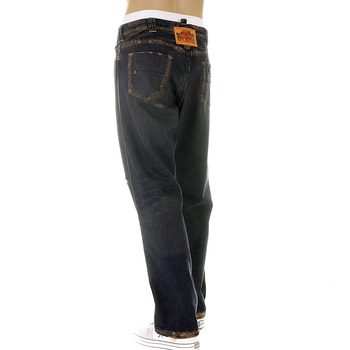 RMC MKWS Exclusive Washed Aged Worn Finish Vintage Cut Denim Jeans for Men with Whiskering and Fading REDM5321