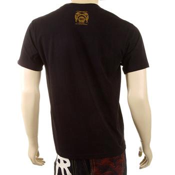 RMC Martin Ksohoh Mens Black Crew Neck Regular Fit Short Sleeve T-shirt with Japan Man Doll Print REDM3969