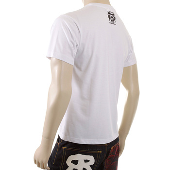 RMC Jeans White Regular Fit Short Sleeve Cotton Crew Neck T-shirt for Men with Ape Cope Print REDM5034