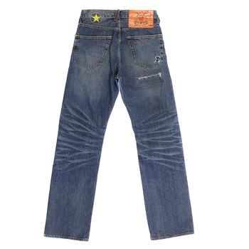 Yoropiko Martin Yat Ming Vintage Cut Exclusive Design Worn Finish Washed Denim Jeans YORO5433