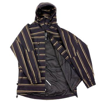 Yoropiko Martin Yat Ming Regular Fit Hooded Black with Gold Stripe Functional Jacket REDM3166