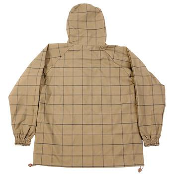 Yoropiko Martin Yat Ming Mens Coffee Checked Regular Fit Hooded Functional Jacket REDM3170