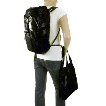 RMC MKWS Unisex Lightweight Nylon Backpack with Adjustable Back and Side Straps in Black REDM2271
