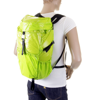 RMC Martin Ksohoh MKWS Unisex Lime Lightweight Nylon Backpack with Clip Closure Top Flap REDM2273