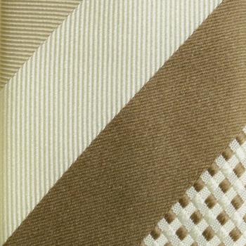 Hugo Boss Tie light beige and ivory silk tie 50200535 BOSS1589