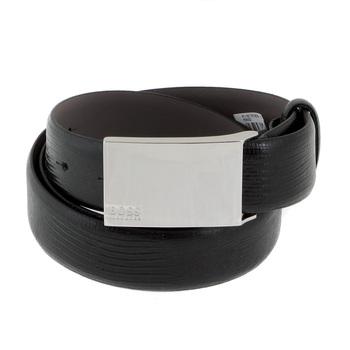 Belt Hugo Boss Perioso black leather belt 50196268 BOSS1685