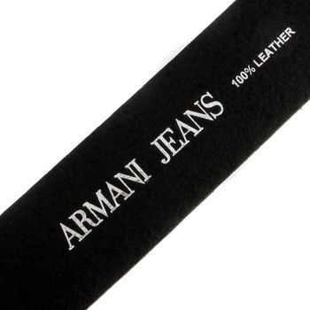 Armani Jeans black leather belt P6101 UF AJM1423